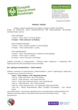 ROZKAZ L 10/2015 - ZHP