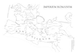 Rzym - mapa konturowa