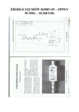 ŹRÓDŁO SZUMÓW DJ9BV-95 – SP9WY 30 MHz