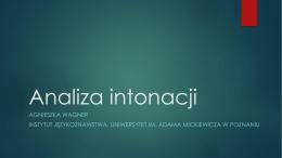 intonacja