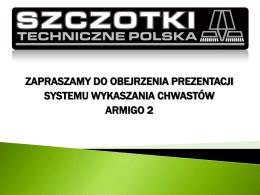 prezentacja armigo 2 - Szczotki Techniczne, szczotki do zamiatarek