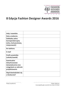 Pobierz plik () - Fashion Designer Awards