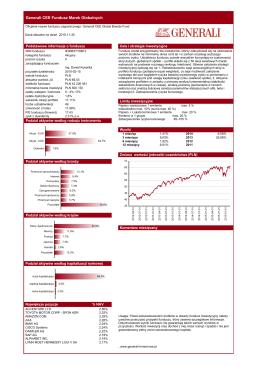 Karta informacyjna funduszu - Generali Fundusz Konserwatywny