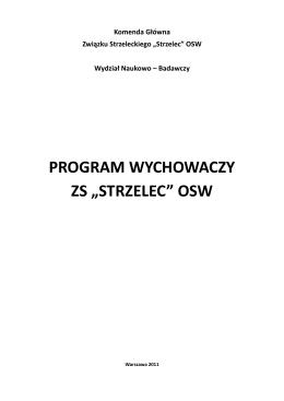 Programu Wychowawczego Związku