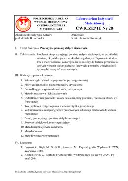 Instrukcja - Wydział Mechaniczny