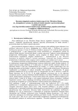 prof. dr hab. inż. Małgorzata Kujawińska