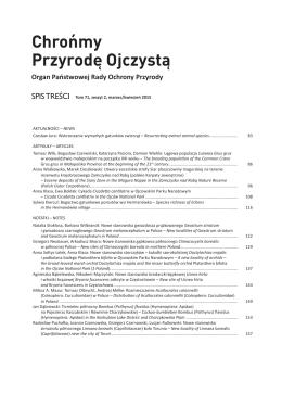 Tom 71, zeszyt 2 2015  - Instytut Ochrony Przyrody PAN
