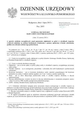 Uchwala Nr VII/51/2015 z dnia 22 czerwca 2015 r.