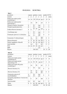 Schemat studiów