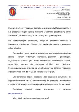 Centrum Medycyny Rodzinnej Gdańskiego Uniwersytetu