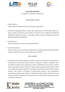 LM Lokalne Media Sp. z oo, ul. Przyjaźni 2, 62
