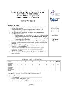 Konkurs 2015/2016 szkolny