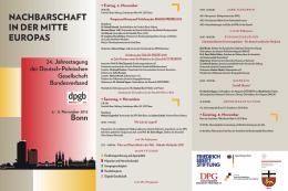 NACHBARSCHAFT IN DER MITTE EUROPAS - Deutsch