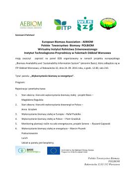 European Biomass Association - AEBIOM Polskie Towarzystwo