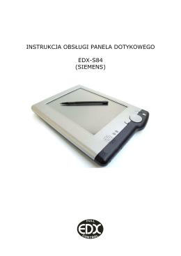 instrukcja obsługi panela dotykowego edx-s84