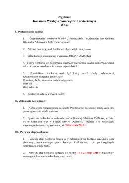 Regulamin Konkursu Wiedzy o Samorządzie Terytorialnym