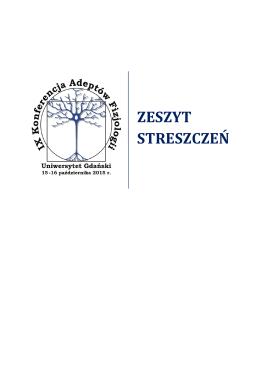 Zeszyt streszczeń - IX Konferencja Adeptów Fizjologii