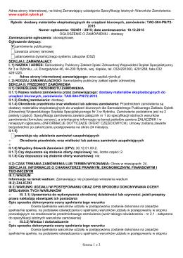 BZP ogl o zma PN 72 - Wojewódzki Szpital Specjalistyczny nr 3 w