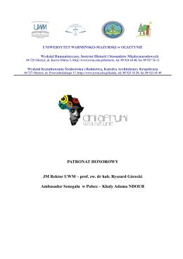 Program Dni Afryki 2015