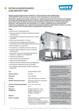 detekcja nieszczelności leakmaster® easy - Witt