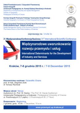 Międzynarodowe uwarunkowania rozwoju przemysłu i usług
