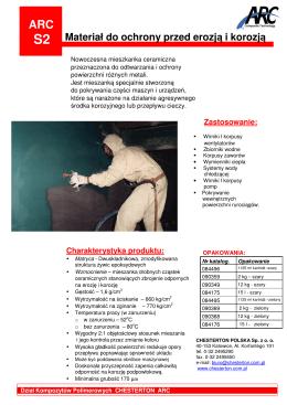 S2 Materiał do ochrony przed erozją i korozją