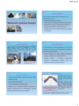 3. Materiały zmienne fazowo - Katedra Fizyki Budowli i Materiałów