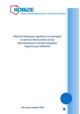 Materiał dotyczący regulacji oraz wymagań w zakresie bilansowania