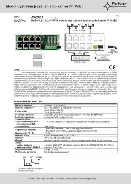 Moduł dystrybucji zasilania do kamer IP (PoE)