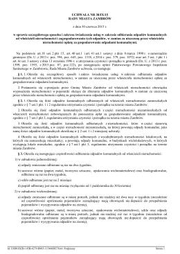 Uchwała nr 38/IX/15 Rady Miasta Zambrów w sprawie