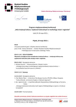 Program międzynarodowej konferencji