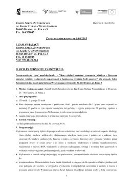 kurs wozki 2015 - Zespół Szkół Zawodowych w Dynowie