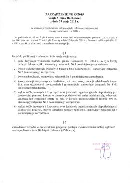 Zarządzenie Nr 43/2015 Wójta Gminy