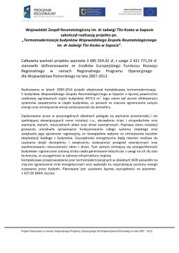 szczegóły - Wojewódzki Zespół Reumatologiczny im. dr Jadwigi Titz