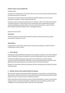 Wskazówki do raportu z prac zespołów TPS