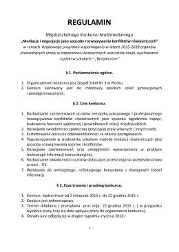 REGULAMIN - Zespół Szkół nr 3 w Płocku