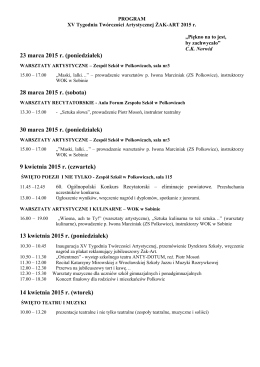 ŻAK-ART 2015 - program [plik pdf]