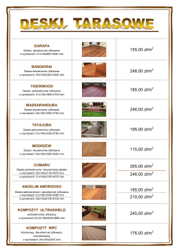 Cennik drewna tarasowego