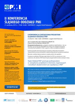 II Konferencja Śląskiego Oddziału PMI