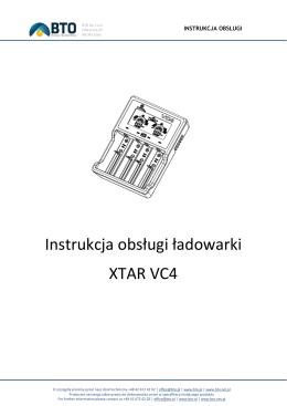 Instrukcja obsługi ładowarki XTAR VC4