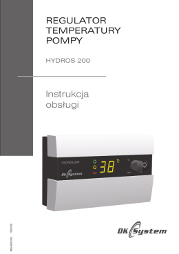 HYDROS 200 instrukcja obsługi 2015