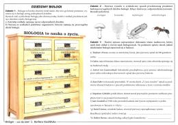 Dziedziny biologii – KARTA PRACY