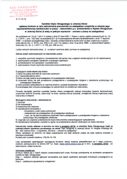 Konkurs na umowę zastępstwo - p.o. protokolanta