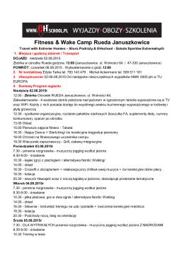 Fitness & Wake Camp Rueda Januszkowice
