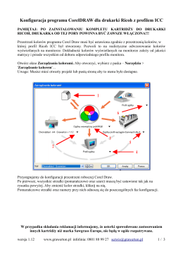 Konfiguracja programu Corel DRAW