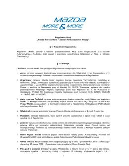 Mazda More & More – Zostań Ambasadorem Mazdy