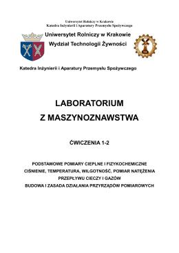 Uniwersytet Rolniczy w Krakowie Wydział Technologii Żywności