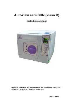 Instrukcja obsługi Autoklaw MED22 i MED12