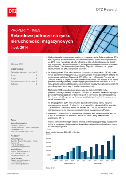 Property Times Logistics & Industrial Poland