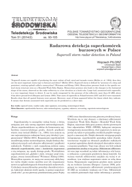 Radarowa detekcja superkomórek burzowych w Polsce. Supercell